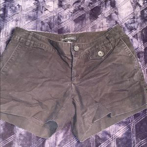 Banana Republic black khaki shorts